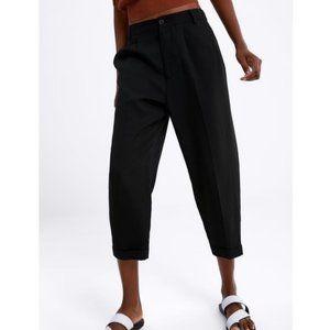 Zara Flowy Pants With Hem